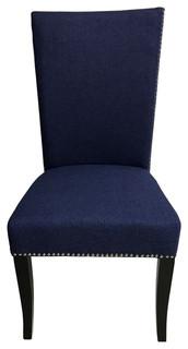 Nevada Chair, Set of 2, Blue Stallion Linen