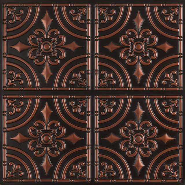 Wrought Iron Faux Tin Ceiling Tile Glue Up 24 X24 205 Traditional By Decorative Tiles Inc
