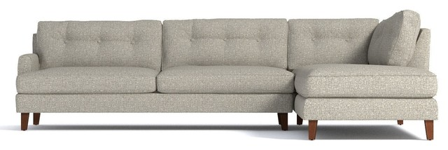 Awesome Virgil 2 Piece Sectional Sofa Straw Chaise On Right Machost Co Dining Chair Design Ideas Machostcouk