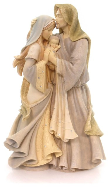 Enesco Foundations Nativity Holy Family Masterpiece Figurine.