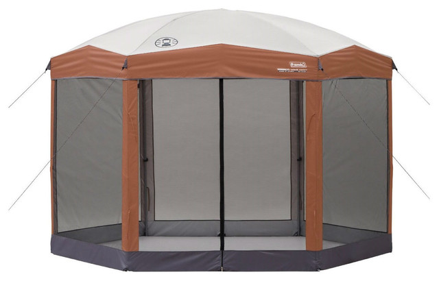 Instant 12&x27;x10&x27; Hexagon Screened Canopy Gazebo With Removable Insect Screen.