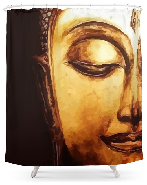 Marvelous Society6 Buddha Meditation Shower Curtain Asian Shower Curtains