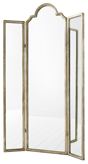 Cyan Design Percy Gold Leaf Floor Mirror.