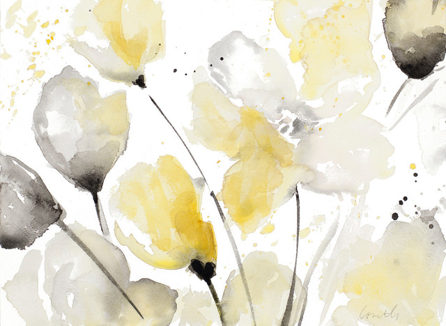Neutral Abstract Floral Ii Canvas Art, 60x40.
