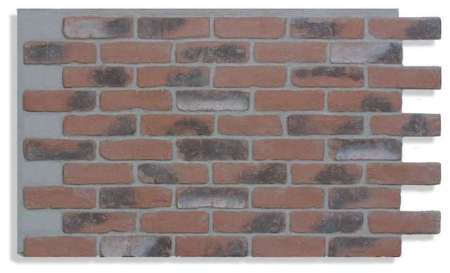 28 X48 Brick Wall Paneling Chicago Red Light Grout