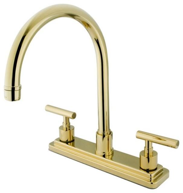 kingston brass kingston brass manhattan double handle 8 kingston brass double handle centerset kitchen faucet