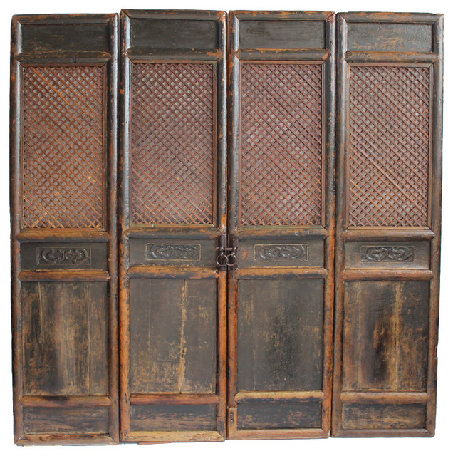 Consigned Antique Chinese Screen Doors asian-screen-doors - Consigned Antique Chinese Screen Doors - View In Your Room! Houzz