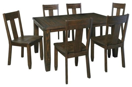 Ashley Trudell 7-Piece Dining Set, Dark Brown