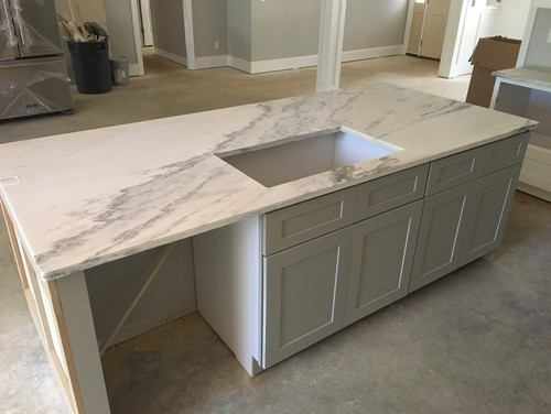 New Alabama White Marble Countertops look horrible