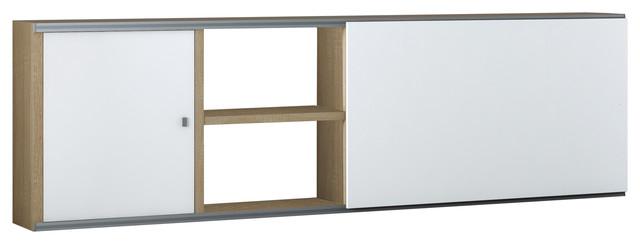 Torero Modular Sideboard, White and Oak