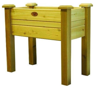 planter box solid cedar wood natural finish 34 outdoor pots and