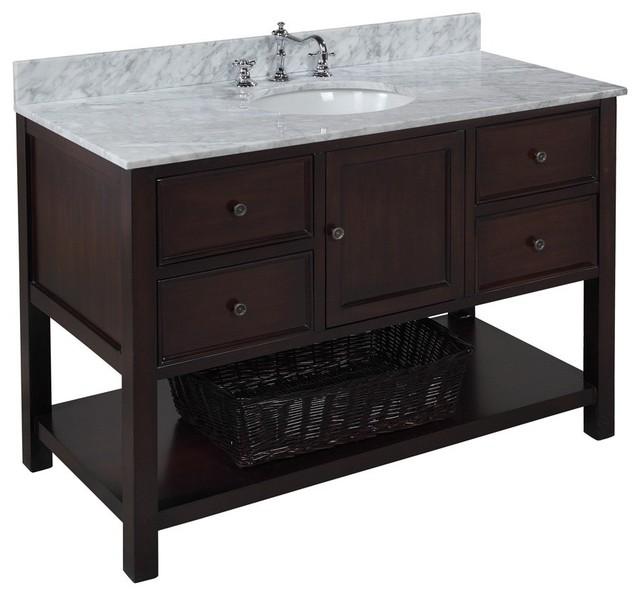 New Yorker Bath Vanity Transitional Bathroom Vanities And Sink - 4 ft bathroom vanity for bathroom decor ideas