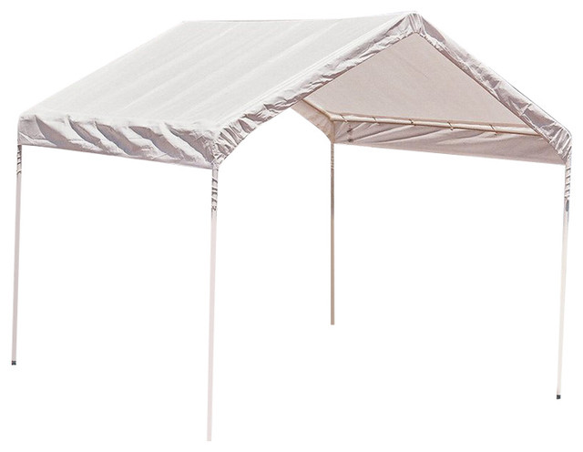 10 X10 Canopy 1 3 8 4 Leg Frame White Cover Contemporary Canopies Tents By Shelterlogic