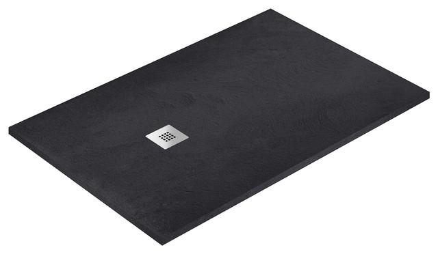 Graphite Allstone Shower Tray, 80x180 cm