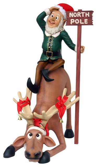 Funny Reindeer With Elf