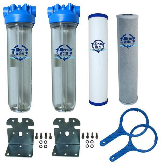 kleenwater kw4520cbds dual stage chlorine and sediment filter system