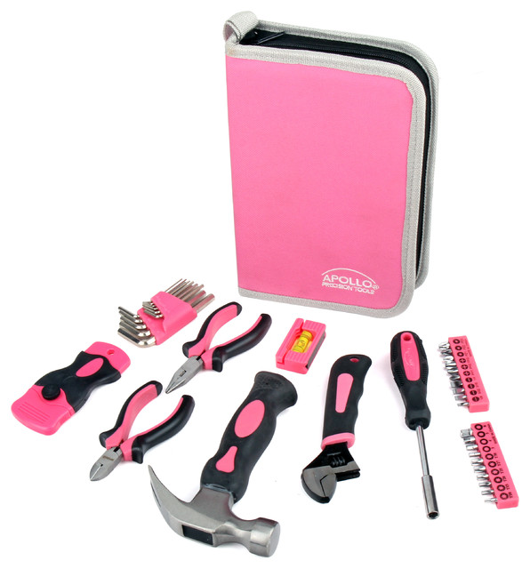 Apollo Tools 38 Piece Household Tool Kit In Zippered Case.