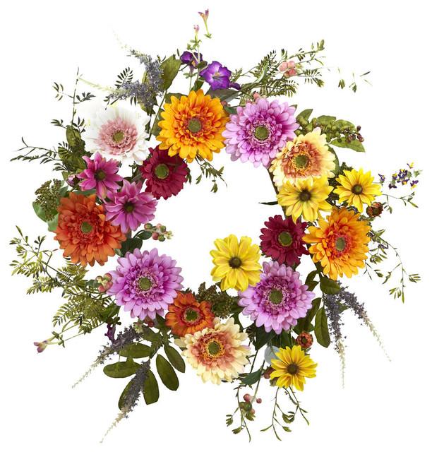 26 African Sunflower Wreath.