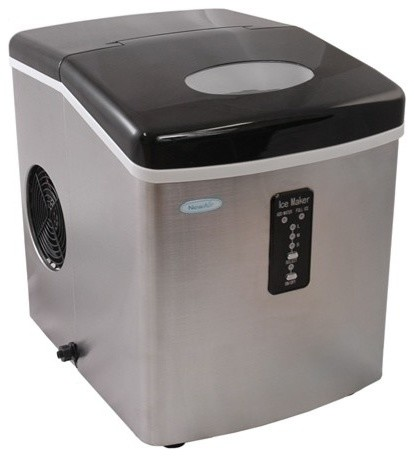 Small Portable Ice Maker With Contemporary Kitchen - Image Mag
