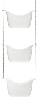 Bask Shower Caddy, White and Nickel