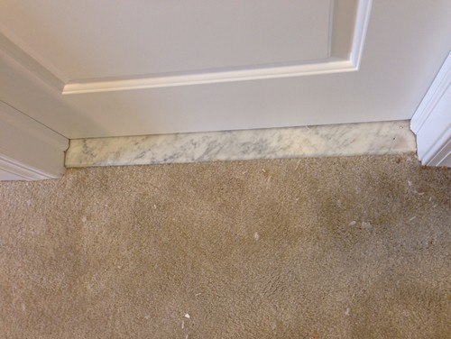 Threshold Material Dilemma Schluter Strip Marble Or Ceramic