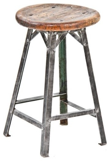 Early 20th Century American Industrial Stool