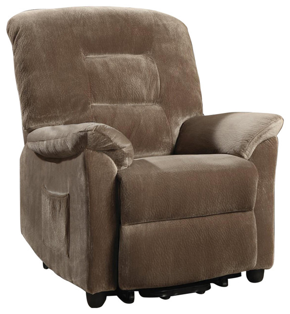 Coaster Casual Power Lift Recliner With Brown Sugar Upholstery, Brown by Coaster Home Furnishings