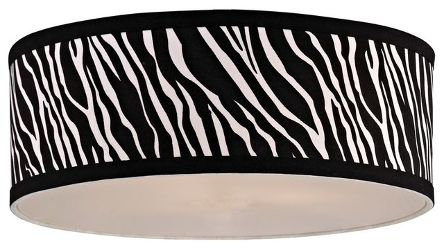 Zebra Print Drum Lamp Shade