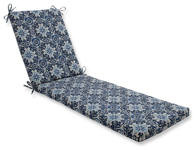 Woodblock Prism Blue Oversized Chaise Cushion.
