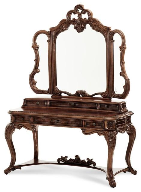 Incroyable AICO Michael Amini Palais Royale Vanity Writing Desk U0026 Mirror