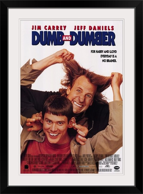 Dumb And Dumber 1994 Black Framed Art Print Contemporary Prints And Posters By Great Big Canvas