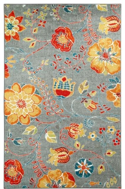 Strata Free Spirit Multi Floral 8' x 10' Mohawk Rug (11825) contemporary-area-rugs