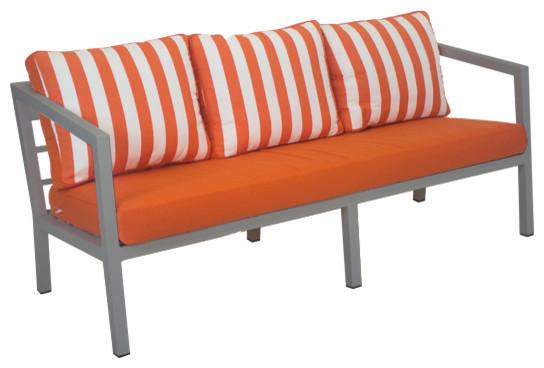 Outdoor 3-Seat Acapulco Sofa, Silver