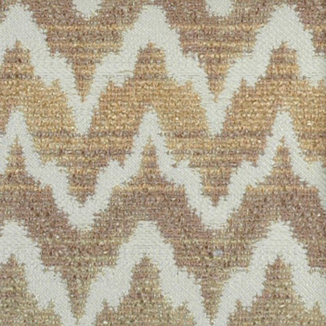 Flame Stitch - Natural/Beige Upholstery Fabric