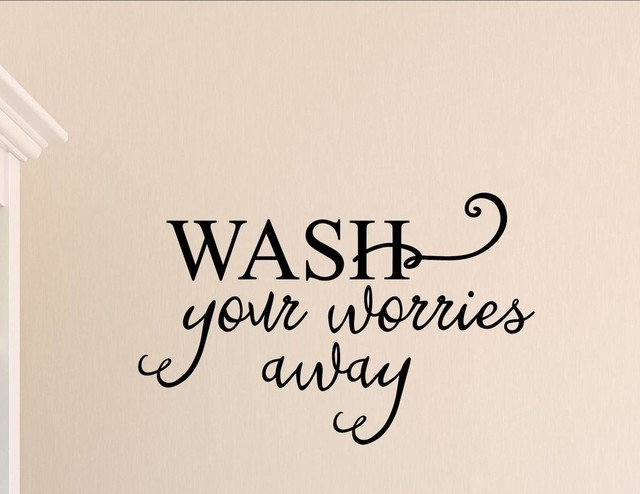 Wash Your Worries Away, Wall Decor Stickers. -1