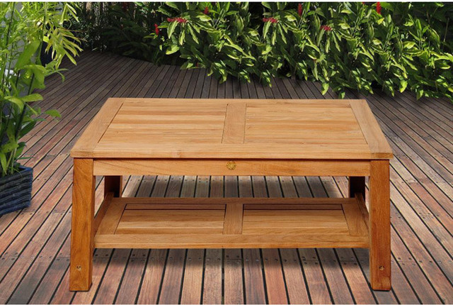 San Francisco Teak Wood Coffee Table Contemporary Coffee Tables By