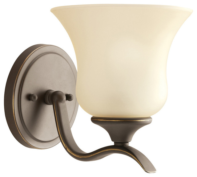 Wall Sconces Lighting Traditional : Kichler Wedgeport 1-Light Wall Light - Traditional - Wall Sconces - by Lighting and Locks