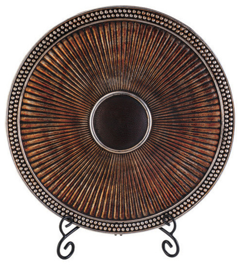 OK Lighting - Davina Charger Plate With Stand - Decorative Plates  sc 1 st  Houzz : plates decorative - pezcame.com