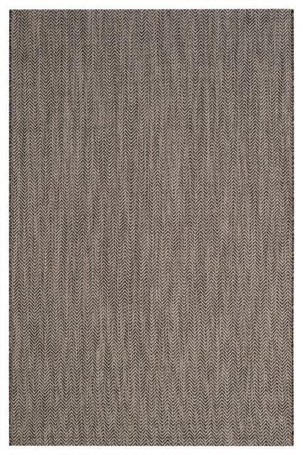 Catalonia Indoor Outdoor Rug Black Beige 2 x3 7