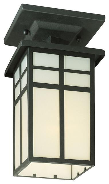 Thomas Mission Ceiling Lamp, Black, 1x100w 120v.