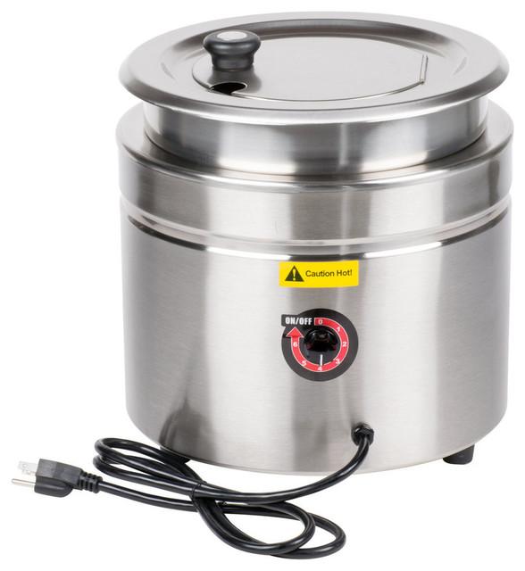 Avantco W800 11-Quart Stainless Steel Countertop Soup Kettle Warmer, 120v, 800w.
