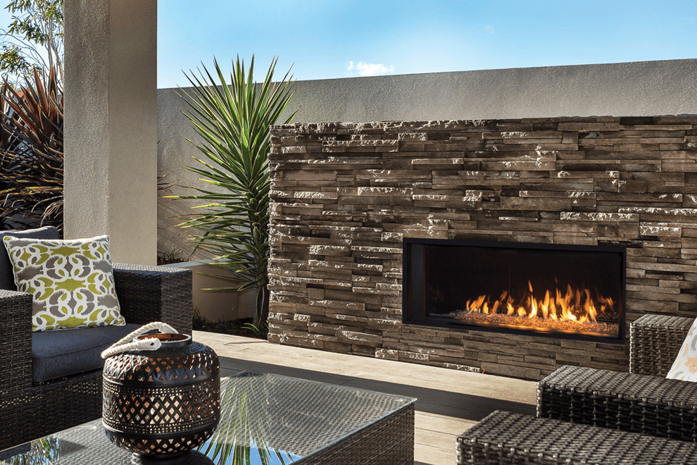 Valor Linear Series Fireplaces L1 Outdoor Modern Toronto