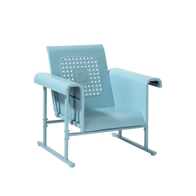 Veranda Single Glider Chair, Caribbean Blue