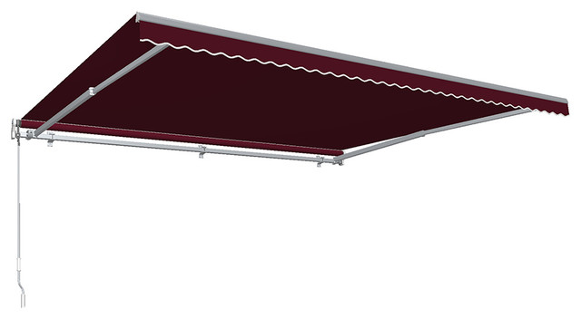 24&x27; Destin With Hood Manual Retractable Awning, Burgundy.