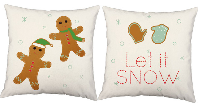 Cozy Christmas Cookies Throw Pillows, In/Outdoor Covers and Cushions