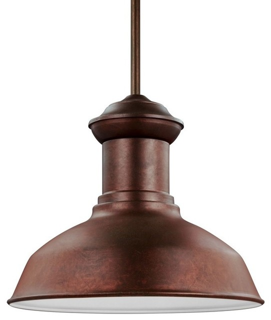 Fredricksburg, Led Outdoor Pendant, Weathered Copper.