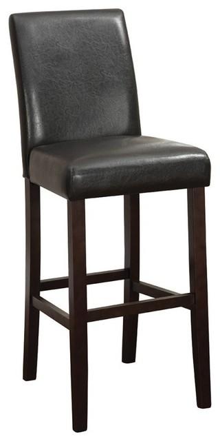 Amazing Coaster Bar Stool Dark Brown Cappuccino Set Of 2 Machost Co Dining Chair Design Ideas Machostcouk