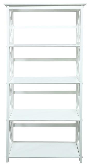 Montego 5-Shelf Bookcase-White.