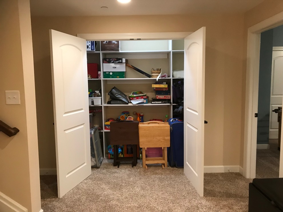 Finished Basement with Wet Bar, Home Theater & Storage Closet