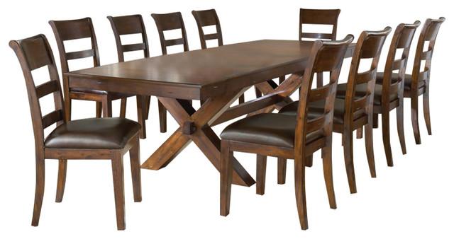 11 piece dining set Hillsdale Park Avenue 11 Piece Dining Set in Dark Cherry  11 piece dining set
